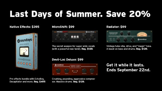 Soundtoys Last Days Of Summer Sale
