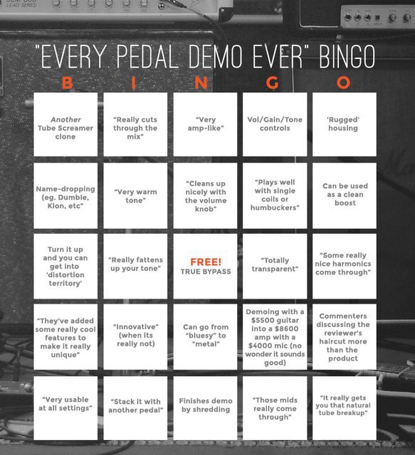 Every Single Pedal Review Ever - We Plead Guilty