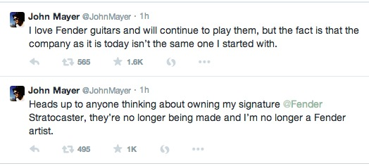 John Mayer Tweet