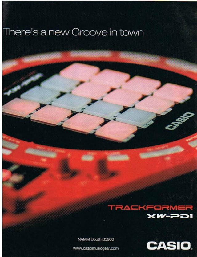 Casio Tease New Groovebox For NAMM XW-PD1