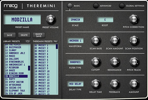Moog Releases Theremini Editor