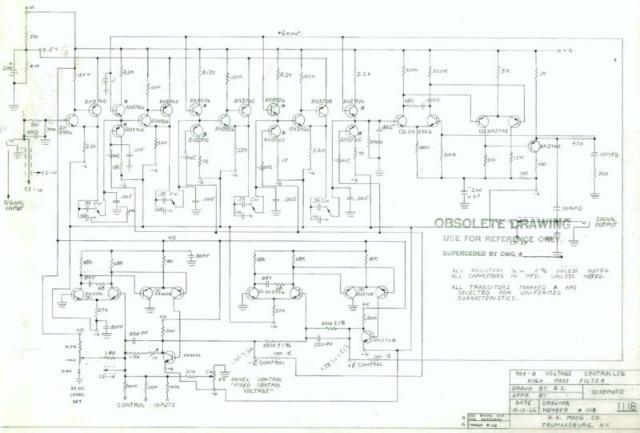 Moog Circuitry Revealed