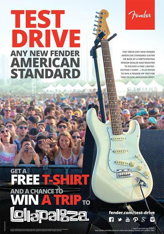 Fender American Standard Test Drive Promotion