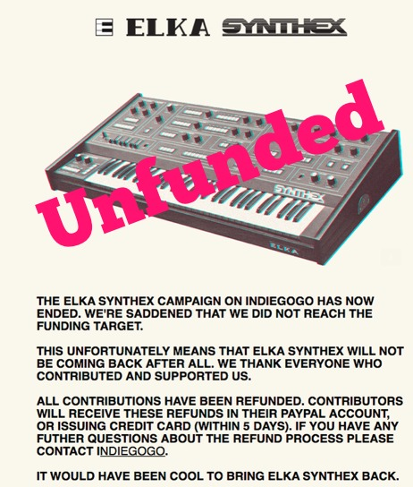 Elka Synthex Funding Project Ended
