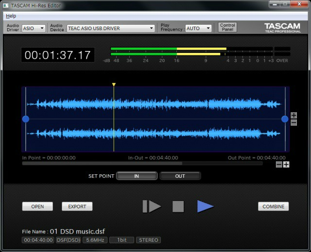 Tascam Releases Free Hi-Res Editor Software