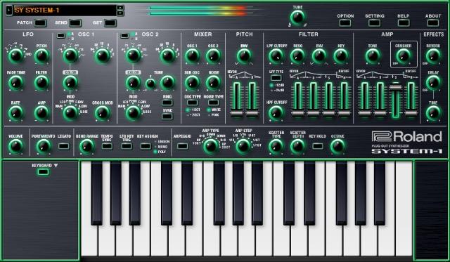 Summer NAMM 2015: Roland SYSTEM-1 In Software