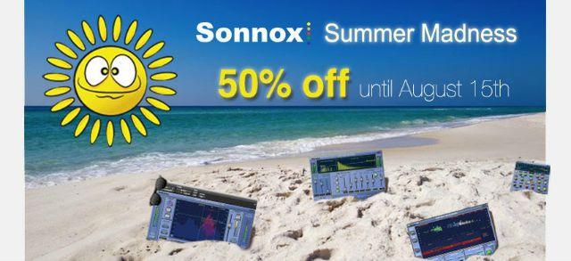 Sonnox Announces Summer Sale And Contest
