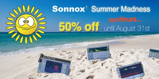 Sonnox Extends Summer Sale