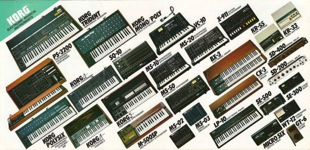 Korg's 1982 Synthesizer Line-Up