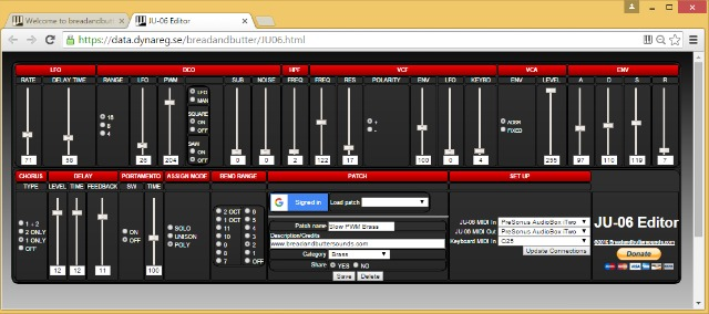Roland Boutique JU-06 Gets A Web MIDI Editor