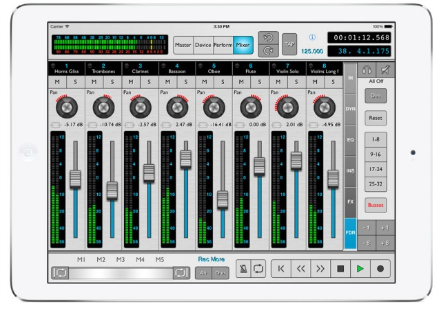 Reason iPad App Adds Performance Options