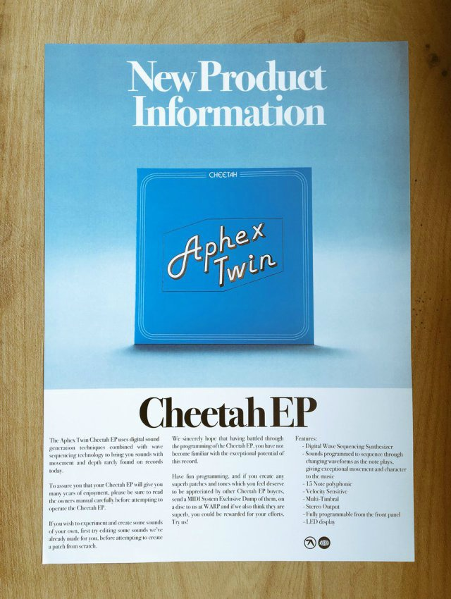 Aphex Twin's New EP Looks Like an Ad For a Vintage Synth