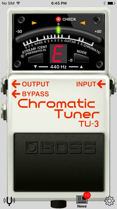 BOSS Releases Free Tuner App