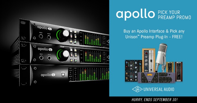 Buy UA Apollo Get A Free Preamp Plug-In