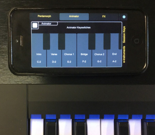Control Session Keys From A Mobile Device