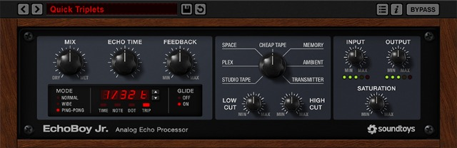 Soundtoys Introduces EchoBoy Jr. Delay Plug-In