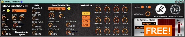 Mono Junction free Max 4 Live Synth