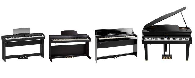 Four New Roland Digital Pianos