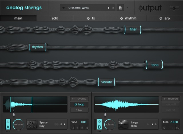 Output Announces Analog Strings