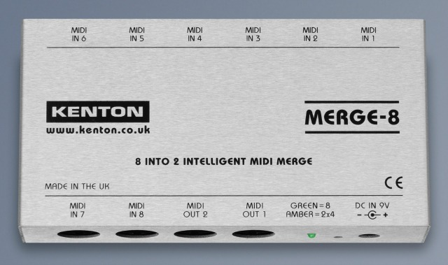 Kenton's 8 Into 2 Intelligent MIDI Merge Ships