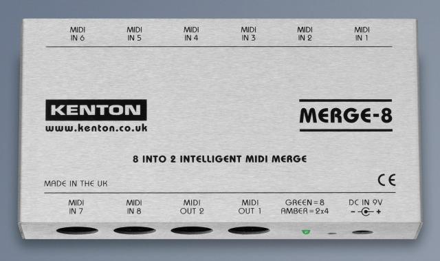 Kenton's 8 Into 2 Intelligent MIDI Merge Ships