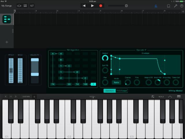 New iPad FM Synth