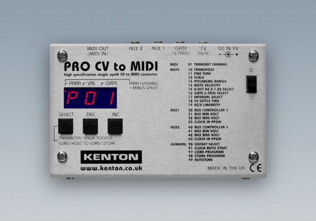 Kenton Announces Pro CV to MIDI Convertor