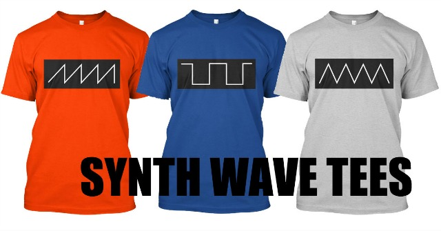New Synth Wave Tee Designs