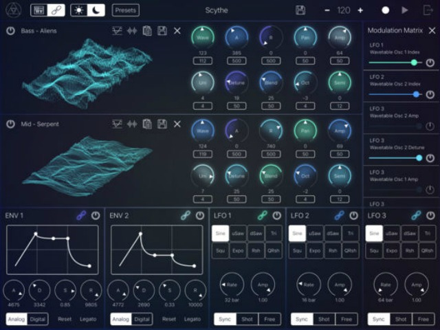 Wavetable Synth For Your iPad