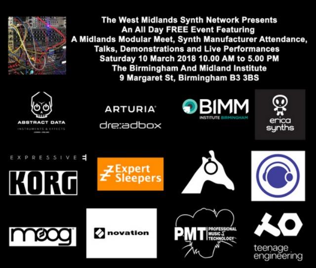 Birmingham Synth Meet On Saturday